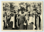 Walter Theodore Brown in an academic procession