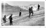 Alpinists Climbing a Glacier (members of the Alpine Club of Canada?) :: Les alpinistes à lescalade dun glacier (membres du Club Alpin du Canada?)