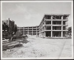 Margaret Addison Hall, (under construction) Work stopped by strike, September 15, 1958