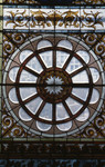 [Stained glass window in the chapel at Old Vic]