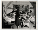 Women in residence room of Annesley Hall