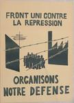 Front uni contre la répression, organisons notre defense.