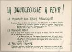 La bourgeoisie a peur ! : Le pouvoir aux abois provoque ... Tout le pouvoir aux travailleurs