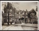 [Exterior front closeup of Annesley Hall]