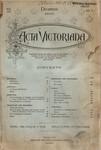 Acta Victoriana 19 :3
