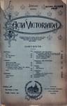 Acta Victoriana 19 :4