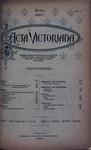 Acta Victoriana 20 :7
