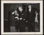 Prime Minister John Diefenbaker and E.J. Pratt at the opening of the E.J. Pratt Library, 1961
