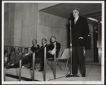 [Prime Minister John Diefenbaker at the opening of the E.J. Pratt Library, 1961]