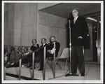 [Prime Minister John Diefenbaker at the opening of the E.J. Pratt Library, 1961]