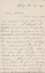 Letter from M.E. Adams to Helena Coleman