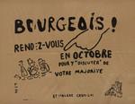 """Bourgeois ! Rendez-vous en octobre pour y """"discuter"""" de votre majorité: et malgré ceux-la !"""