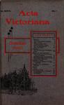 Acta Victoriana 26 : 1