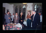 Robert Brandeis and others at book sale party in Burwash Hall