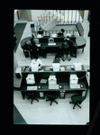 Interior of E. J. Pratt Library ground floor showing students at computer tables