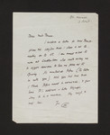 Letter from Sir Kenneth Clark to Margaret Brown