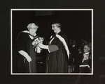 [Mrs. W.W. Andrews receiving flowers at Convocation, 1954]