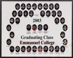 2003 Graduating Class, Emmanuel College