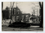 Construction of Emmanuel College building, May 2, 1930