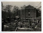 Excavation of Emmanuel College, 1930