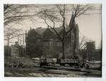 Excavation of Emmanuel College, 1930