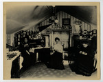 Wood House, Annesley Hall, Victoria University, 1907, Co-eds drinking tea in their room