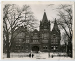 [Victoria College, Toronto, south elevation, includes students]