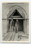 [James Carter, expert stonemason and Ed Sutherland, stone worker foreman