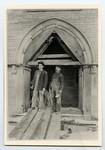 [James Carter, expert stonemason and Ed Sutherland, stone worker foreman