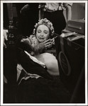 "Lillian Gish kneeling over a prostrate Raymond Massey in the television production ""The Day Lincoln Was Shot"""