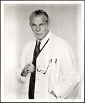 "Raymond Massey posing as character in ""Dr. Kildare"""