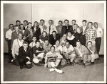 """Dr. Kildare"" cast and crew members posing for group shot in studio"