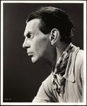 Raymond Massey in profile