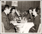 Raymond and Dorothy Massey with Ruth Gordon at Stork Club table