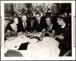 Raymond and Dorothy Massey with Van Heflin and Hedda Hopper at a Stork Club table