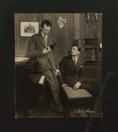 "Raymond Massey as ""Hugh Sebastian"" and Laurence Olivier as ""Steven Beringer"" in ""The Rats of Norway"" at the Playhouse, London, 1933"