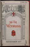 Acta Victoriana 42 : 2