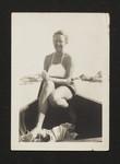 Kathleen Coburn in canoe