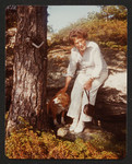 Kathleen Coburn at cottage