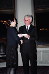 Year End Dinner April 7th 2004 [Ken Taylor with Vic One student, Héloise Apesteguy-Reux?]