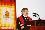 [President Paul W. Gooch speaking at] Vic One Program Launch, October 4, 2003