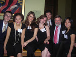 [Vic One Students with President Paul W. Gooch]