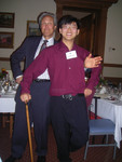[Professor Andrew Baines with Vic One student Chester Yao]