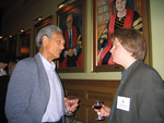 [Professor Andrew Baines with Vic One student Robert Gaudio, Pearson Stream at] Vic One Year End Dinner, April 6th 2005