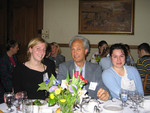 [Professor Andrew Baines with Vic One students at] Vic One Year End Dinner, April 6th 2005