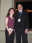 [Principal David Cook with Vic One student Kate Francombe, Frye Stream at] Vic One Year End Dinner, April 6th 2005