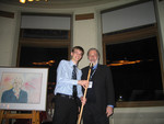 [Principal David Cook with Vic One Stick recipient, Oliver Archer-Antonsen at] Vic One Year End Dinner, April 6th 2005
