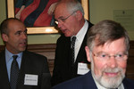 [Vic One faculty and staff, Jason Hunter, Larry Davies, and Professor Dennis Duffy]