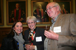 [Vic One faculty, Wendy M. Cecil, with Victoria University alumni Katherine and Murray Corlett]
