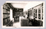 Interior of room 01 at the Birge-Carnegie Library where all records, minutes, histories are kept under a locked door